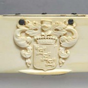 REDUCED 18th c. Royal Crest Ivory Tortoise Shell Snuff Box