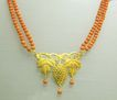 Exquisite 18K Gold and Coral Victorian &quot;Grapes&quot; Necklace