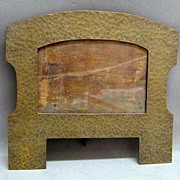 c. 1900 Arts & Crafts Hammered Bronze Cabinet Picture Frame