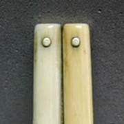 Victorian Ivory Handled Folding Sewing Scissors with Lock