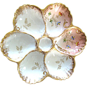 Stunning French Antique Oyster Plate ~ AK