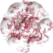 Antique Oyster Plate ~ Pink 'n White ~  'Marguerite'