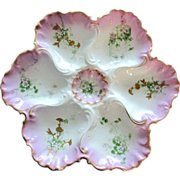 Splendid Antique Oyster Plate ~  Vultury Fr�res Limoges