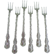 Antique Whiting-Gorham Sterling Silver Oyster Forks