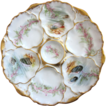 Charming Antique Oyster Plate ~ Ocean Motif