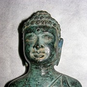 Bronze figurine asian woman