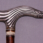 Vintage Sterling Silver handle  cane