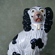 Antique Staffordshire Spaniel Dog #4