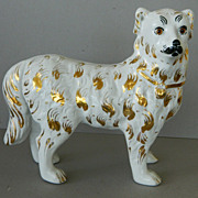 Antique Staffordshire Collie Dog