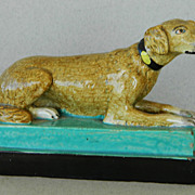 Early Pearlware Recumbent Staffordshire Dog