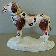 Antique Staffordshire Newfoundland Dog