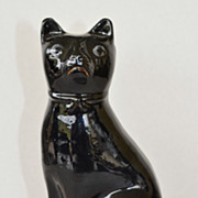 Antique Jackfield Staffordshire Cat