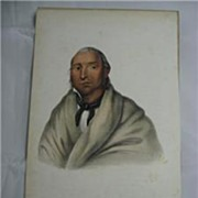 SALE McKenney & Hall 1858 Indian Print Little Crow Sioux