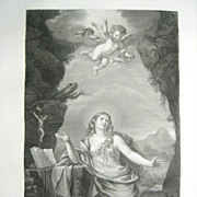 SALE Henri Laurent French Engraving Mary Magdalen 1818 from Le Muse Royal