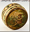 Vernis Martin Antique Carved Ivory Patch Box - c. 1700s - Marie-Antoinette era hand painted ivory