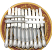 Antique French Sterling Silver 12pc 8&quot; Knife Set, Acanthus