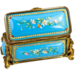 Antique French Kiln-fired Enamel Jewelry Casket, Box, Etui - unsigned Tahan