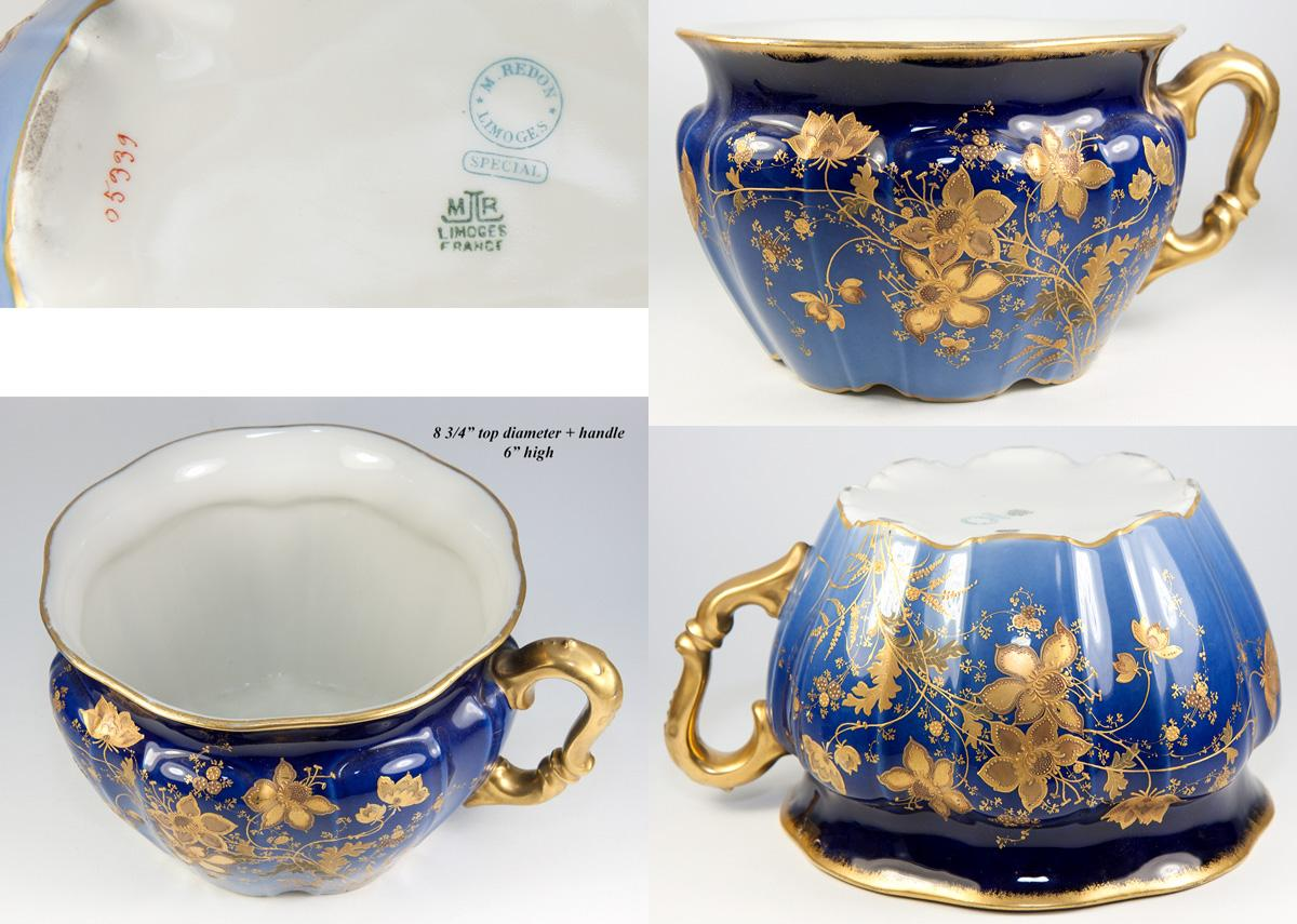 Antique redon limoges french chamber pot planter or for French chamber
