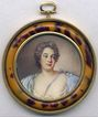 RARE 19th Century Faux Tortiose Shell Frame, Fine Portrait Miniature - Nattier!