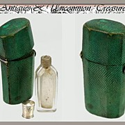 SALE RARE 1780-1820 Antique Shagreen Etui, Scent or Salts Bottle