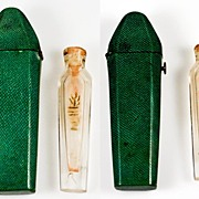 SALE Antique French Scent Bottle, Shagreen Etui c. 1770 -1830