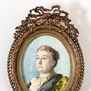 A Superb Antique Portrait Miniature of a Victorian to Edwardian era Lady of Grand Dignity and