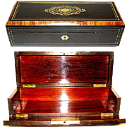 SALE Elegant Antique French Napoleon III Glove or Document Box, Casket