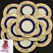 "SALE Set of 11 Fine Minton 9"" Luncheon or Salad, Dessert Plates for Tiffany & Co ..."
