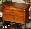 Antique French Ebeniste Apprentice Miniature Chest of Drawers - Louis Philippe era, just right for antique dolls