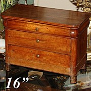 SALE Antique French Ebeniste Apprentice Miniature Chest of Drawers - Louis Philippe era, just