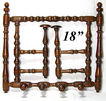 "Wonderful Antique Edwardian Turned Wood 18.5"" Top Hat & Coat Rack"