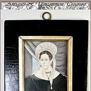 SALE Fine Antique Georgian Portrait Miniature, Jewelry Interest - Lovely woman, costume, jewel