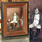 SALE Rare LG Antique French Portrait Miniature: Defeat of Napoleon After 1814 H. Delaroche ...