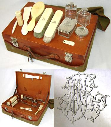 RARE Antique French Sterling Silver Vanity, Paul Sormani - Trousse d'Voyage - P Sormani,  - C. Dufour, Paris