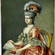 SALE Antique Portrait Miniature, Lady Holding a Fan, Fran. Bartolozzi
