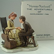 "Norman Rockwell HF-1 Huckleberry Finn ""The Secret"" Free Shipping"