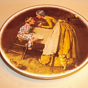 "Norman Rockwell Plate Tom Sawyer Series ""Take Your Medicine"" 1977"