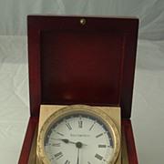 Black Starr & Frost West German Clock Brass in Rosewood Box