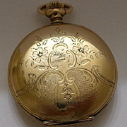 SALE Rare 14kt GF Hunter Suffolk Pocket Watch