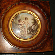 SALE Miniature French Erotic Painting Of Muse
