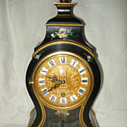 French Cartel Tole Clock