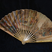 Rare Spanish Victorian Fan Columbus Genre