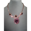Ornate Juliana Tagged Fuchsia Necklace