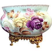 Hand Painted French Floral Jardiniere