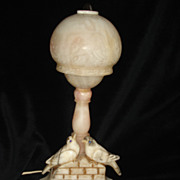 Alabaster Bird Lamp