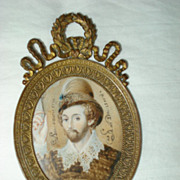 Miniature Painting 2nd  Earl of Essex
