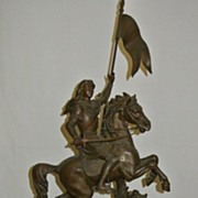 SALE Vintage 19thc Joan of Arc Clock