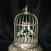 Fred Zimbalist Etched Bird Cage Music Box