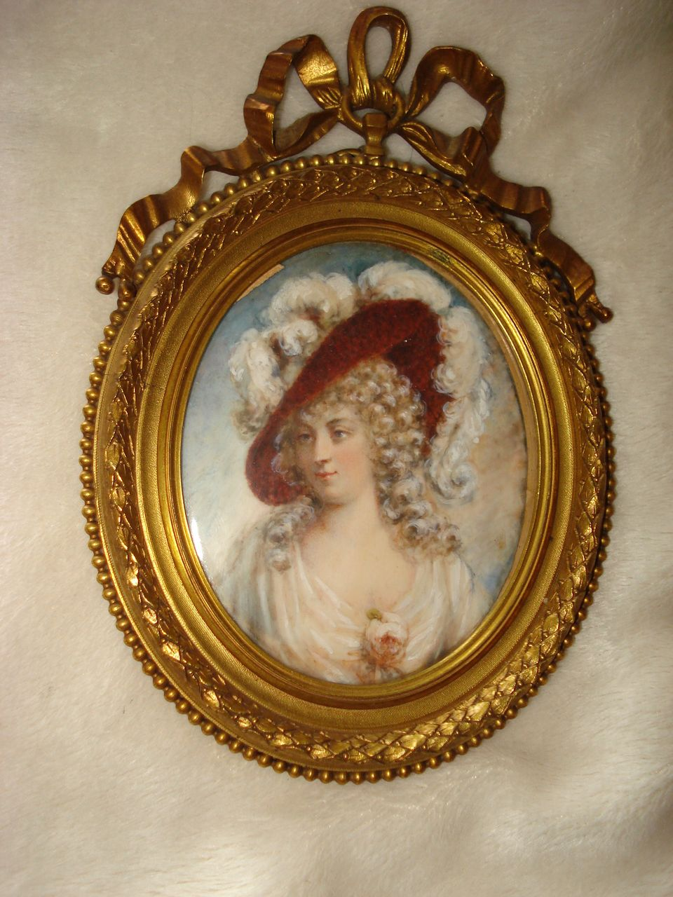 Miniature Portrait Duchess Of Devonshire