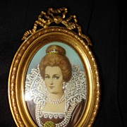 SALE Miniature Portrait Of  A Queen